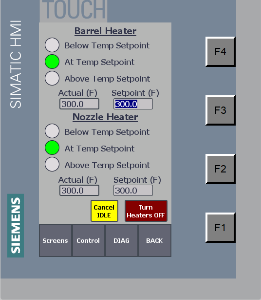 Heater Config - Operator