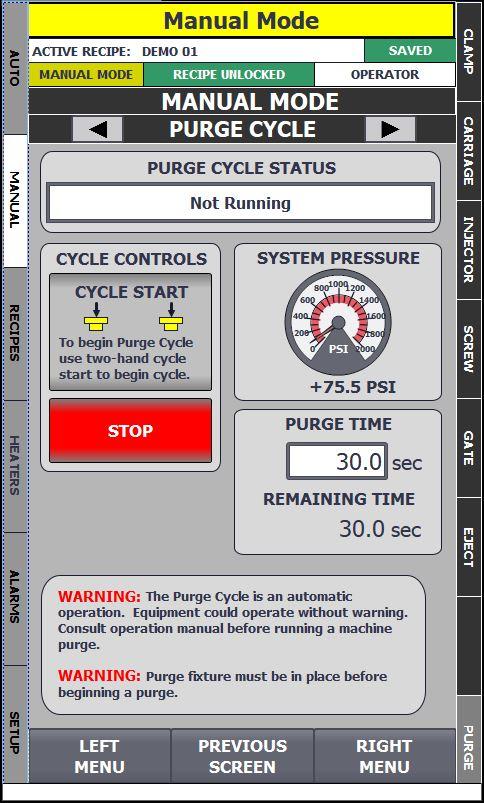 Manual Purge