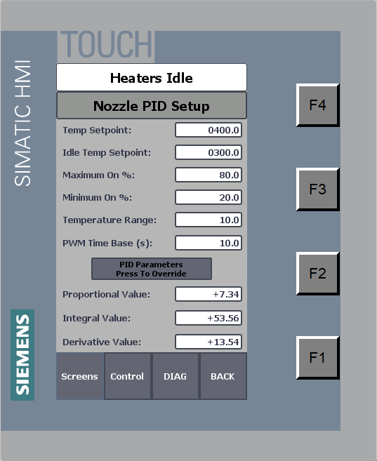PID Paramters - Maint