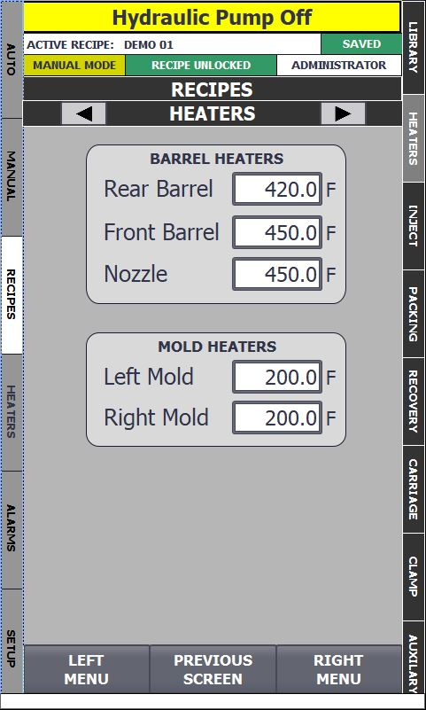 Recipe Heaters